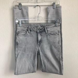 All saints mast grey denim stretch skinny jeans 27